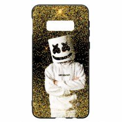 Чехол для Samsung S10e Marshmello Dj and gold - FatLine