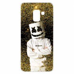 Чехол для Samsung A8 2018 Marshmello Dj and gold - FatLine