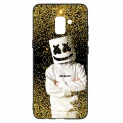 Чехол для Samsung A8+ 2018 Marshmello Dj and gold - FatLine