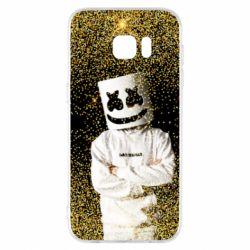 Чехол для Samsung S7 EDGE Marshmello Dj and gold - FatLine