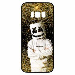 Чехол для Samsung S8 Marshmello Dj and gold - FatLine