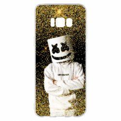 Чехол для Samsung S8+ Marshmello Dj and gold - FatLine