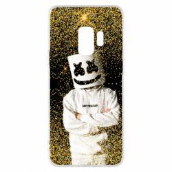 Чехол для Samsung S9 Marshmello Dj and gold - FatLine