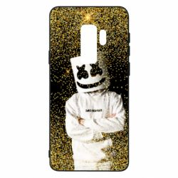 Чехол для Samsung S9+ Marshmello Dj and gold - FatLine