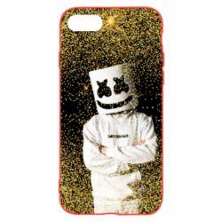 Чехол для iPhone 8 Marshmello Dj and gold - FatLine
