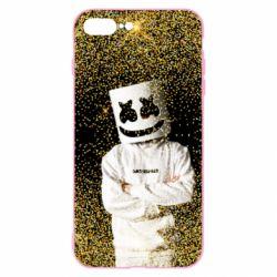 Чехол для iPhone 8 Plus Marshmello Dj and gold - FatLine