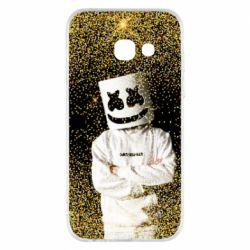 Чехол для Samsung A3 2017 Marshmello Dj and gold - FatLine