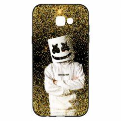 Чехол для Samsung A7 2017 Marshmello Dj and gold - FatLine