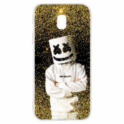 Чехол для Samsung J3 2017 Marshmello Dj and gold - FatLine