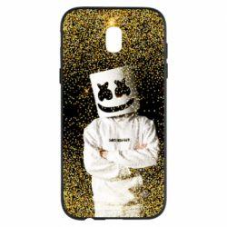 Чехол для Samsung J5 2017 Marshmello Dj and gold - FatLine