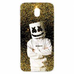 Чехол для Samsung J7 2017 Marshmello Dj and gold - FatLine
