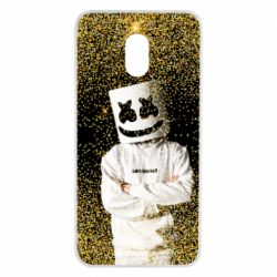 Чехол для Meizu M6 Marshmello Dj and gold - FatLine