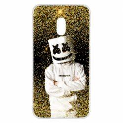 Чехол для Meizu 15 Marshmello Dj and gold - FatLine