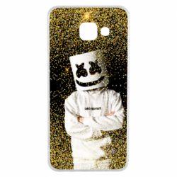 Чехол для Samsung A3 2016 Marshmello Dj and gold - FatLine