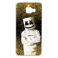 Чехол для Samsung A7 2016 Marshmello Dj and gold - FatLine