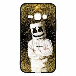 Чехол для Samsung J1 2016 Marshmello Dj and gold - FatLine
