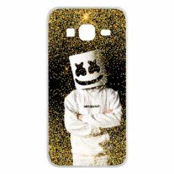 Чехол для Samsung J3 2016 Marshmello Dj and gold - FatLine