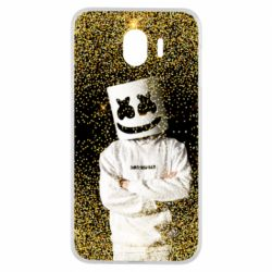 Чехол для Samsung J4 Marshmello Dj and gold - FatLine