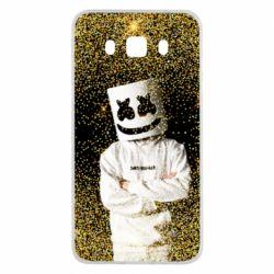 Чехол для Samsung J5 2016 Marshmello Dj and gold - FatLine