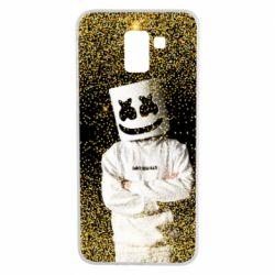 Чехол для Samsung J6 Marshmello Dj and gold - FatLine