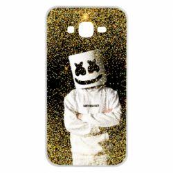 Чехол для Samsung J7 2015 Marshmello Dj and gold - FatLine