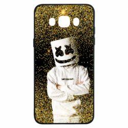 Чехол для Samsung J7 2016 Marshmello Dj and gold - FatLine