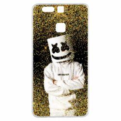 Чехол для Huawei P9 Marshmello Dj and gold - FatLine