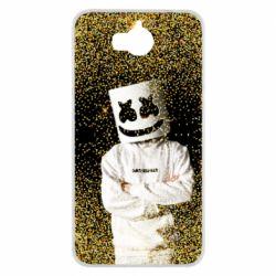 Чехол для Huawei Y5 2017 Marshmello Dj and gold - FatLine