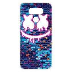 Чехол для LG G6 Marshmello logo and color background - FatLine