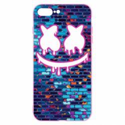 Чехол для iPhone 7 Plus Marshmello logo and color background - FatLine