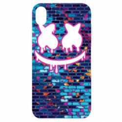 Чехол для iPhone XR Marshmello logo and color background - FatLine