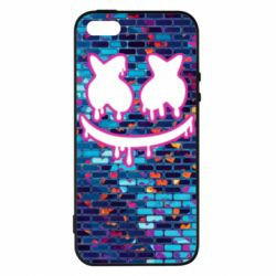 Чехол для iPhone5/5S/SE Marshmello logo and color background - FatLine