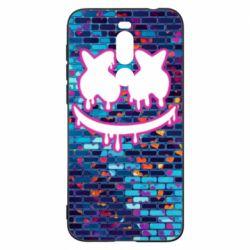 Чехол для Meizu X8 Marshmello logo and color background - FatLine