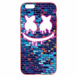 Чехол для iPhone 6/6S Marshmello logo and color background - FatLine