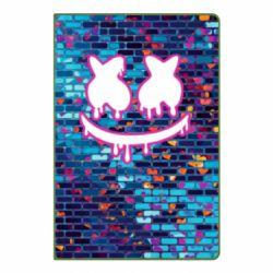Блокнот А5 Marshmello logo and color background - FatLine