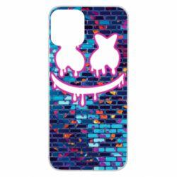 Чехол для iPhone 11 Marshmello logo and color background - FatLine