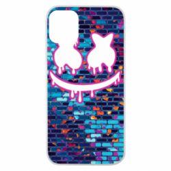 Чехол для iPhone 11 Pro Marshmello logo and color background - FatLine