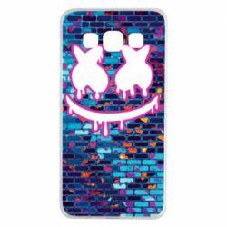 Чехол для Samsung A3 2015 Marshmello logo and color background - FatLine