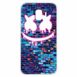 Чехол для Samsung J2 2018 Marshmello logo and color background - FatLine