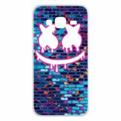 Чехол для Samsung J3 2016 Marshmello logo and color background - FatLine
