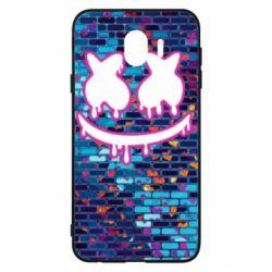 Чехол для Samsung J4 Marshmello logo and color background - FatLine