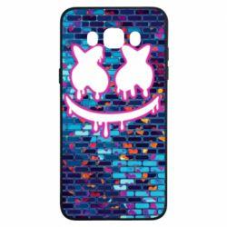 Чехол для Samsung J7 2016 Marshmello logo and color background - FatLine