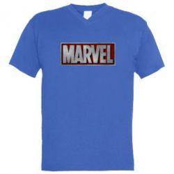 Мужская футболка  с V-образным вырезом Marvel 3D - FatLine