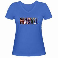 Женская футболка с V-образным вырезом Marvel Avengers - FatLine