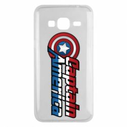 Чехол для Samsung J3 2016 Marvel Captain America