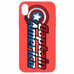 Чехол для iPhone XR Marvel Captain America