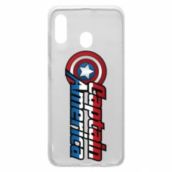 Чехол для Samsung A30 Marvel Captain America