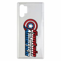 Чехол для Samsung Note 10 Plus Marvel Captain America