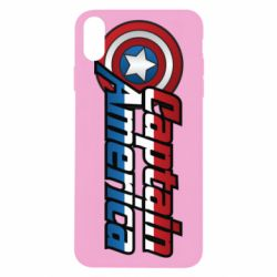 Чехол для iPhone X/Xs Marvel Captain America