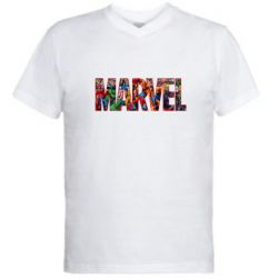 Мужская футболка  с V-образным вырезом Marvel comics and heroes
